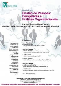"""Conferência – """"Gestão de Pessoas. Perspetivas e Práticas Organizacionais"""""""